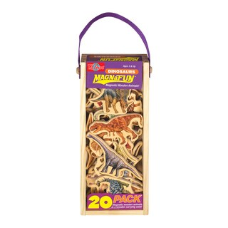 T.S. Shure Dinosaurs Wooden 20-Piece MagnaFun Set