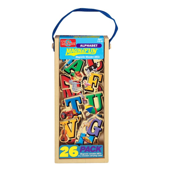Alphabet Letters Wooden 26-Piece MagnaFun Set
