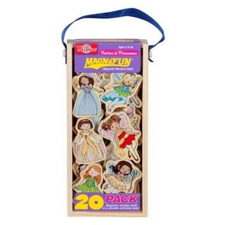 Fairies and Princesses Wooden 20-Piece MagnaFun Set