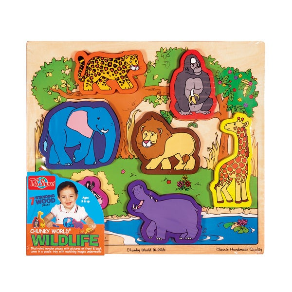 Chunky World Wildlife Wooden Chunky Puzzle