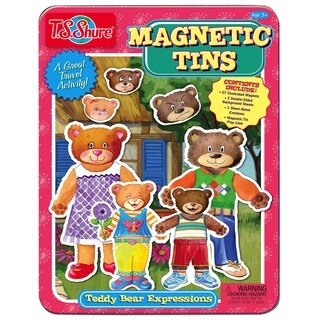 T.S. Shure Teddy Bear Expressions Magnetic Tin Playset