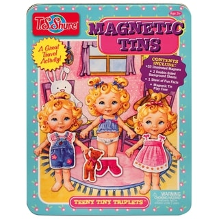 T.S. Shure Teeny Tiny Triplets Magnetic Tin Playset
