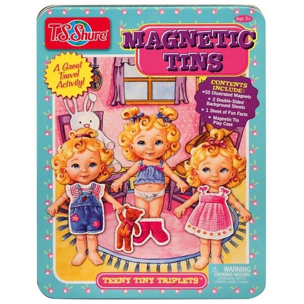 T.S. Shure Teeny Tiny Triplets Magnetic Tin Playset