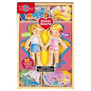 Sweet Hearts Wooden Magnetic Dress-Up Dolls