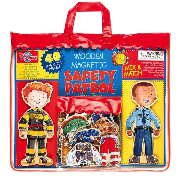 Safety Patrol Wooden Magnetic Action Heroes