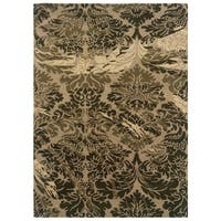 Linon Florence Taupe/ Olive Area Rug - 8' x 10'