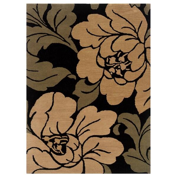 Linon Florence Black/ Sand Area Rug (8' x 10')
