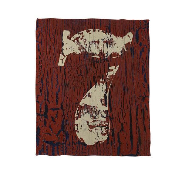 Vintage Numbers VII Coral Fleece Throw