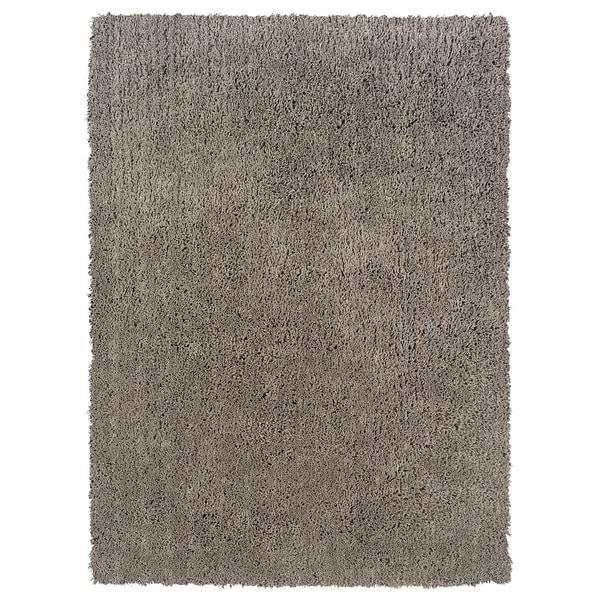 Linon Copenhagen Shag Grey Area Rug - 8' x 10'