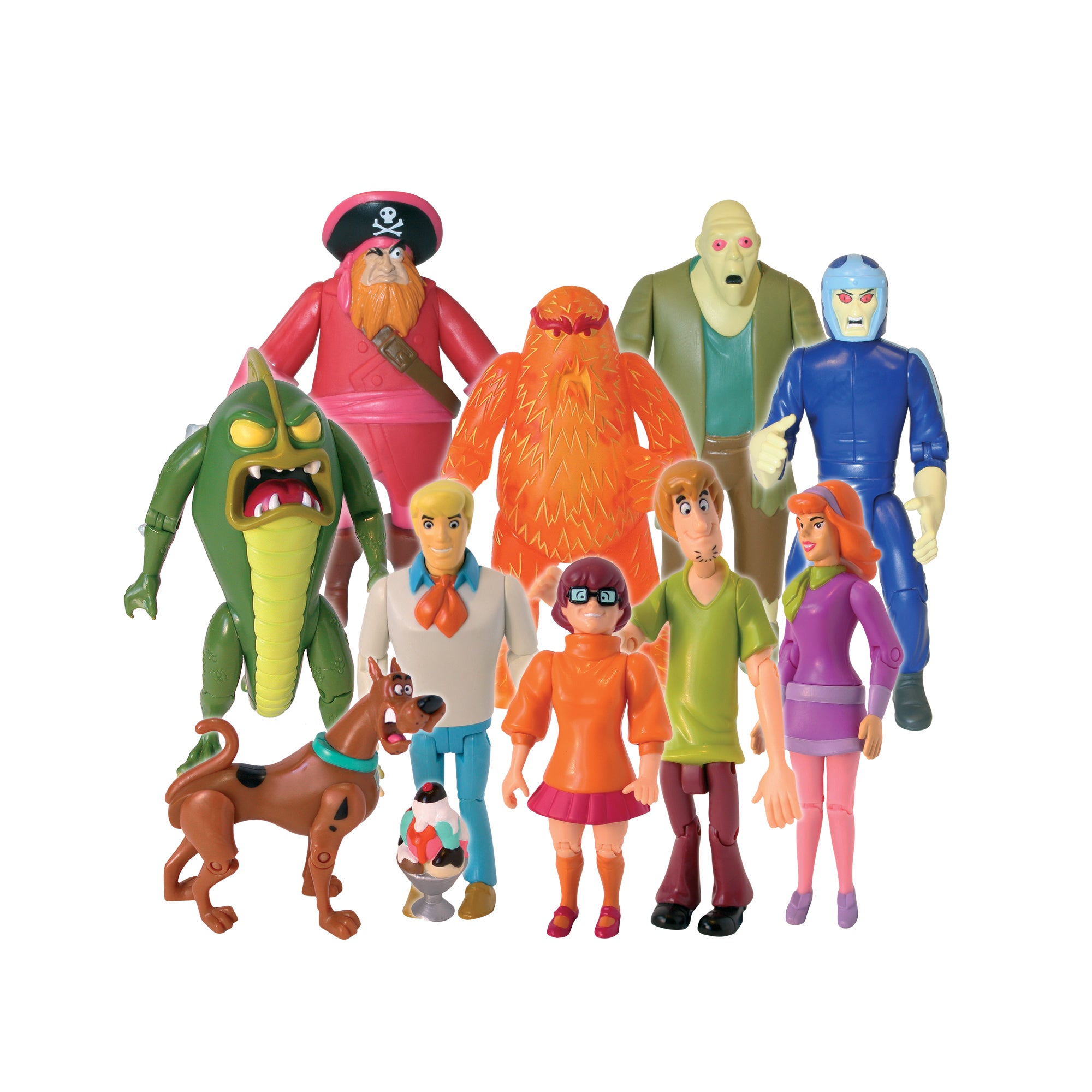 Scooby Doo Monster Set Action Figure, 10 Pack, Multi