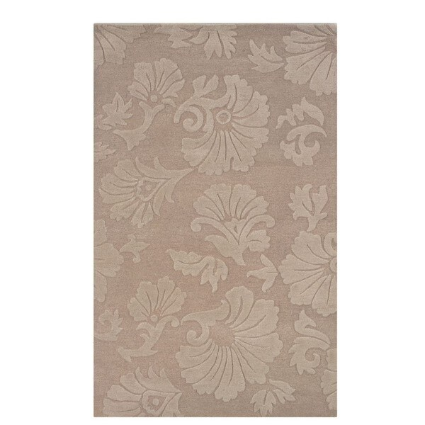 Linon Ashton Taupe/ Cream Area Rug - 5' x 8'