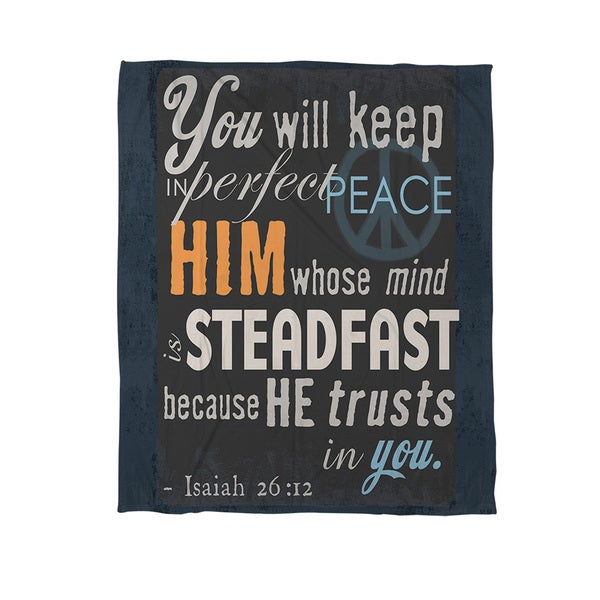 In Perfect Peace Coral Fleece Throw