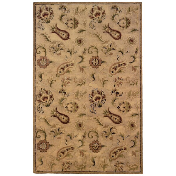 Linon Ashton Pale Gold Area Rug (8' x 11')
