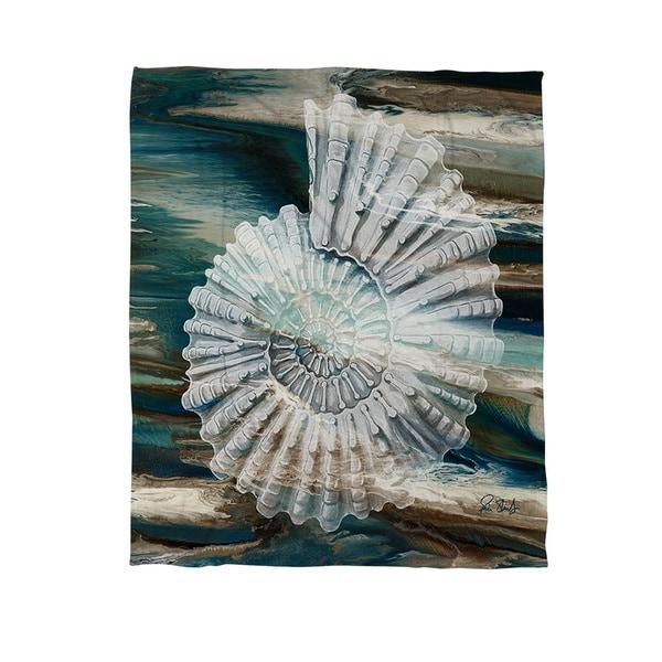 Coastal Span III Coral Fleece Throw