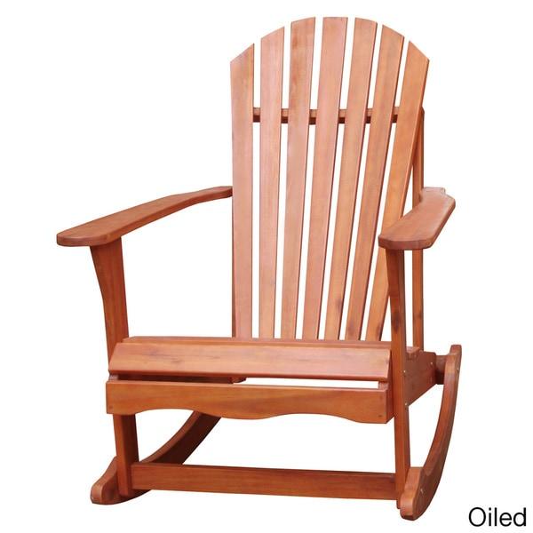 Adirondack Acacia Wood Rocker Chair   Free Shipping Today   Overstock.com    16555270