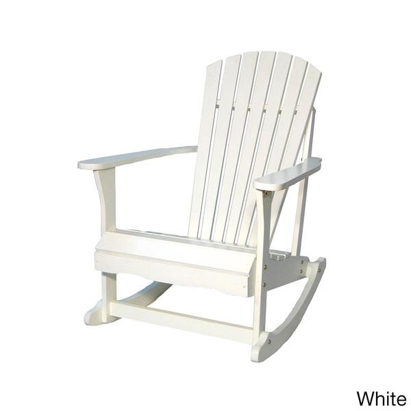 Adirondack Acacia Wood Rocker Chair - Free Shipping Today - Overstock ...