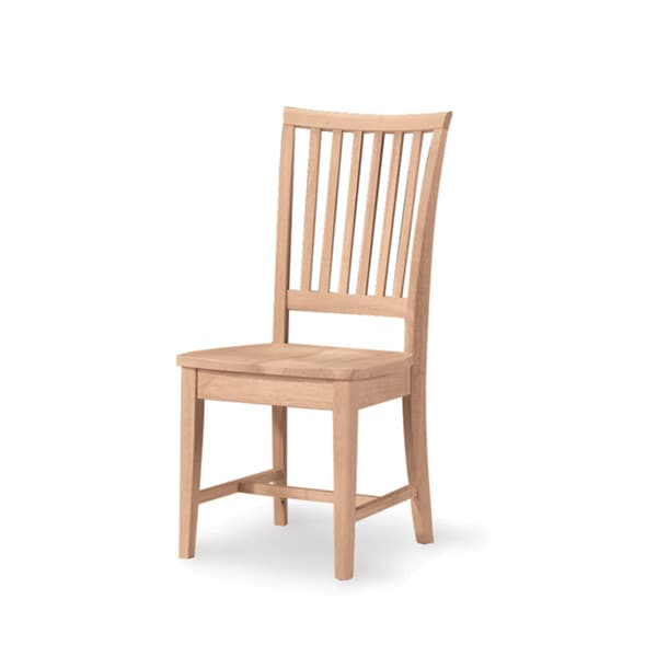 unfinished solid parawood mission side dining chair set