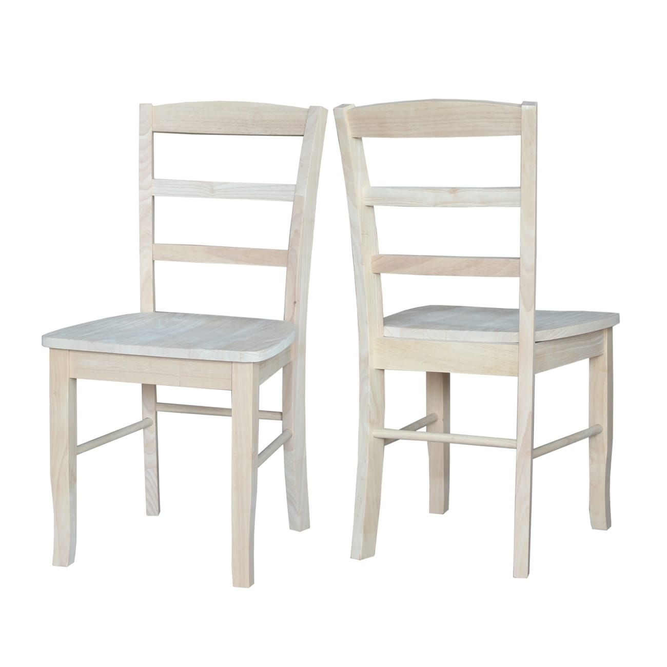 International Concepts Unfinished Solid Parawood Madrid Dining Chair Set Of 2 Free Shipping Today 9363326