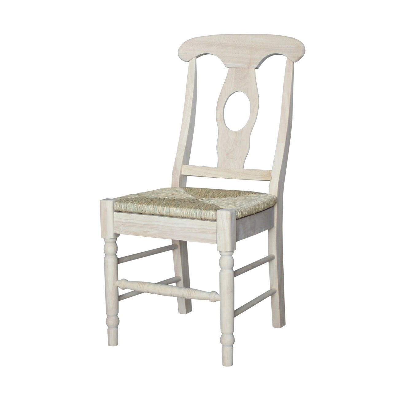 Details About International Concepts Unfinished Solid Parawood Empire  Dining Chair (Set Of 2)