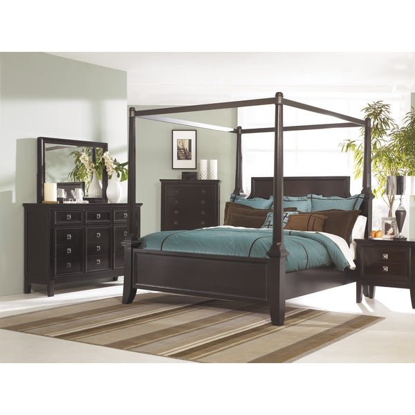 031821214e2e Shop Signature Design by Ashley Martini Suite Sable Poster Canopy Bed -  Free Shipping Today - Overstock - 9363341