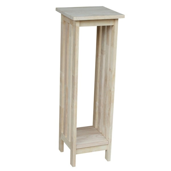 Unfinished Solid Parawood Mission Plant Stand