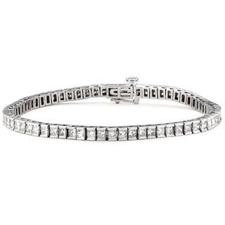 Montebello 14k White Gold 4ct TDW Princess-cut Diamond Tennis Bracelet (G-H, SI1-SI2)
