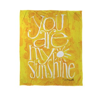 Thumbprintz You Are My Sunshine Coral Fleece Throw
