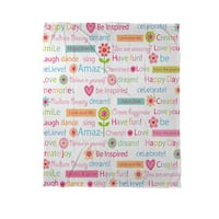 Happy Day Words Coral Fleece Throw
