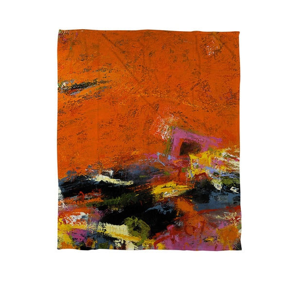 Jubiliation Coral Fleece Throw