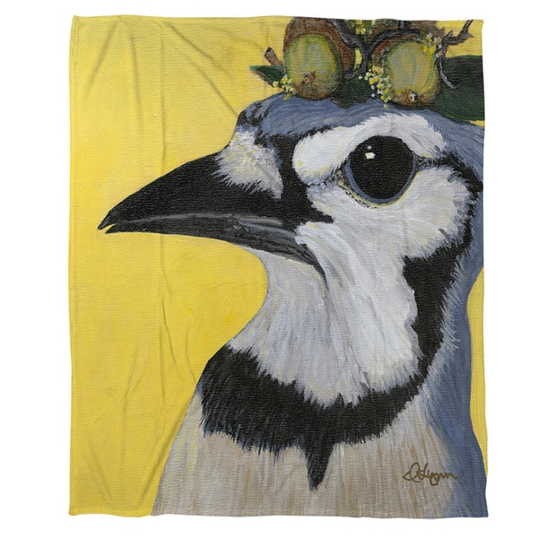 You Silly Bird Parker Coral Fleece Throw