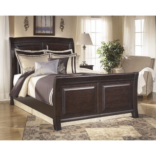 Signature Design by Ashley Ridgley Dark Brown Sleigh Bed
