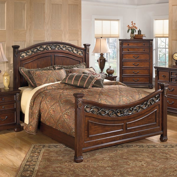 Signature Design By Ashley Leahlyn Warm Brown Bed Free Shipping Today 16555493