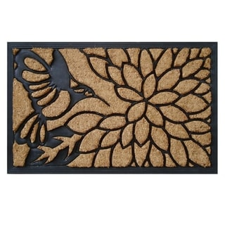 Natural Coir and Rubber Molded Brush Mat