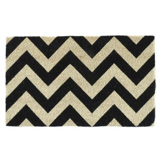 First Impression Chevron Pattern Printed PVC Tufted Coir Mat