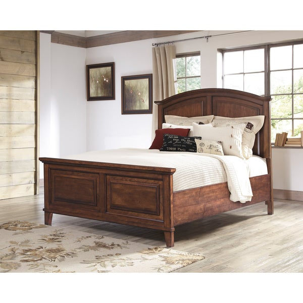 Signature Design By Ashley Burkesville Brown Sleigh Bed Free Shipping Today