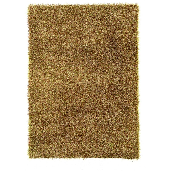 Linon Confetti Grass Green/ Brown Area Rug (5' x 7')