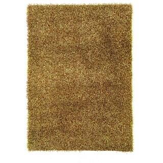 Linon Confetti Grass Green/ Brown Area Rug (5' x 7')