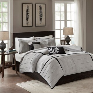 Madison Park Meyers 6-piece Grey Duvet Cover Set