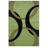Linon Corfu Collection Lime/ Black Area Rug (1'10 x 2'10)