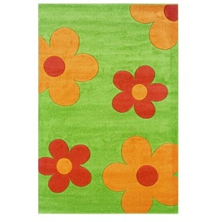 Linon Corfu Collection Lime/ Goldenrod Area Rug (3' x 5')
