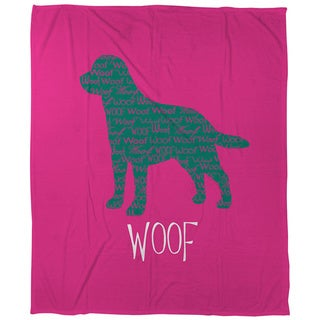 Thumbprintz Woof Coral Fleece Throw