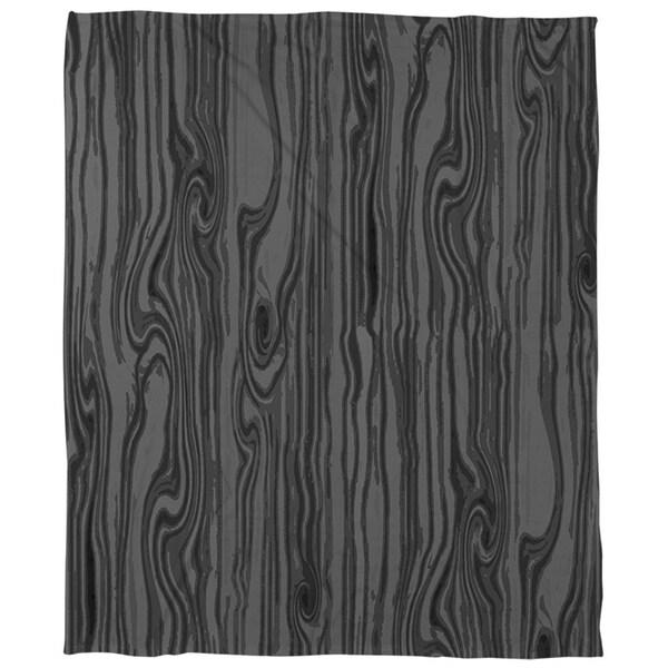 Wood Grain Large Scale Black Coral Fleece Throw