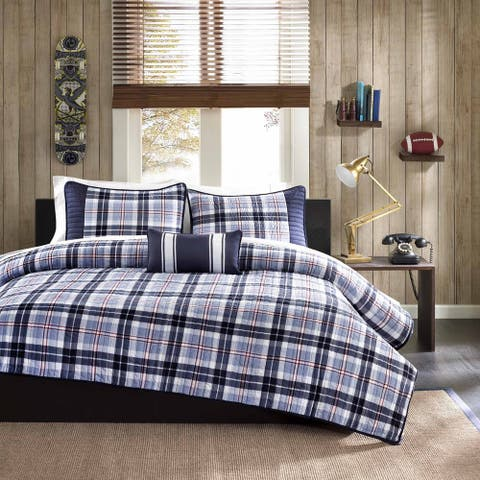 Mi Zone Alton Plaid Coverlet Set
