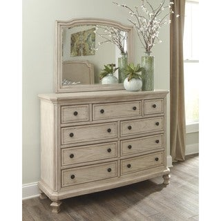 Signature Design by Ashley Demarlos Parchment White Dresser and Mirror