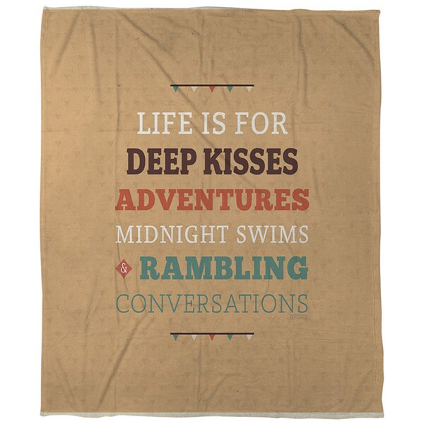 Life is For Coral Fleece Throw