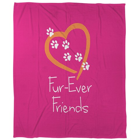 Forever Friends Pink Coral Fleece Throw