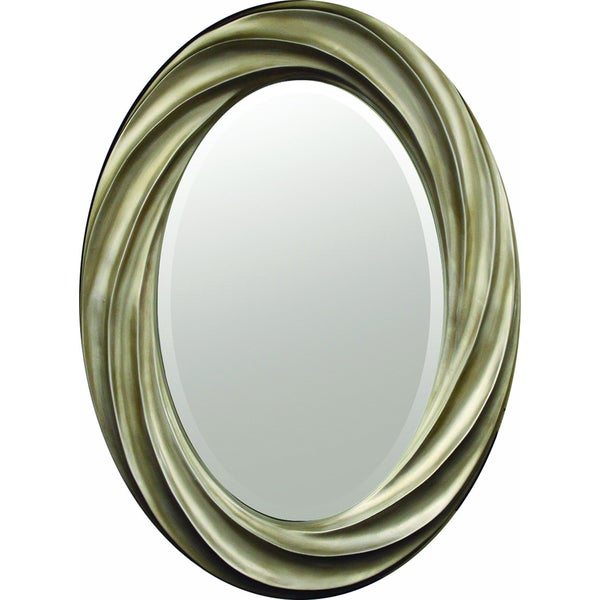 Swirl frame decorative oval mirror free shipping today for Fancy oval mirror