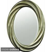 Swirl-frame Decorative Oval Mirror
