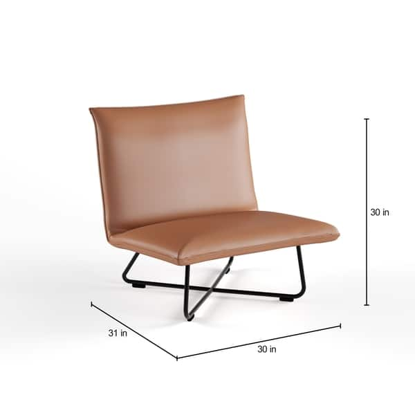 Incredible Shop Carson Carrington Saddle Brown Pillow Lounge Chair Ibusinesslaw Wood Chair Design Ideas Ibusinesslaworg