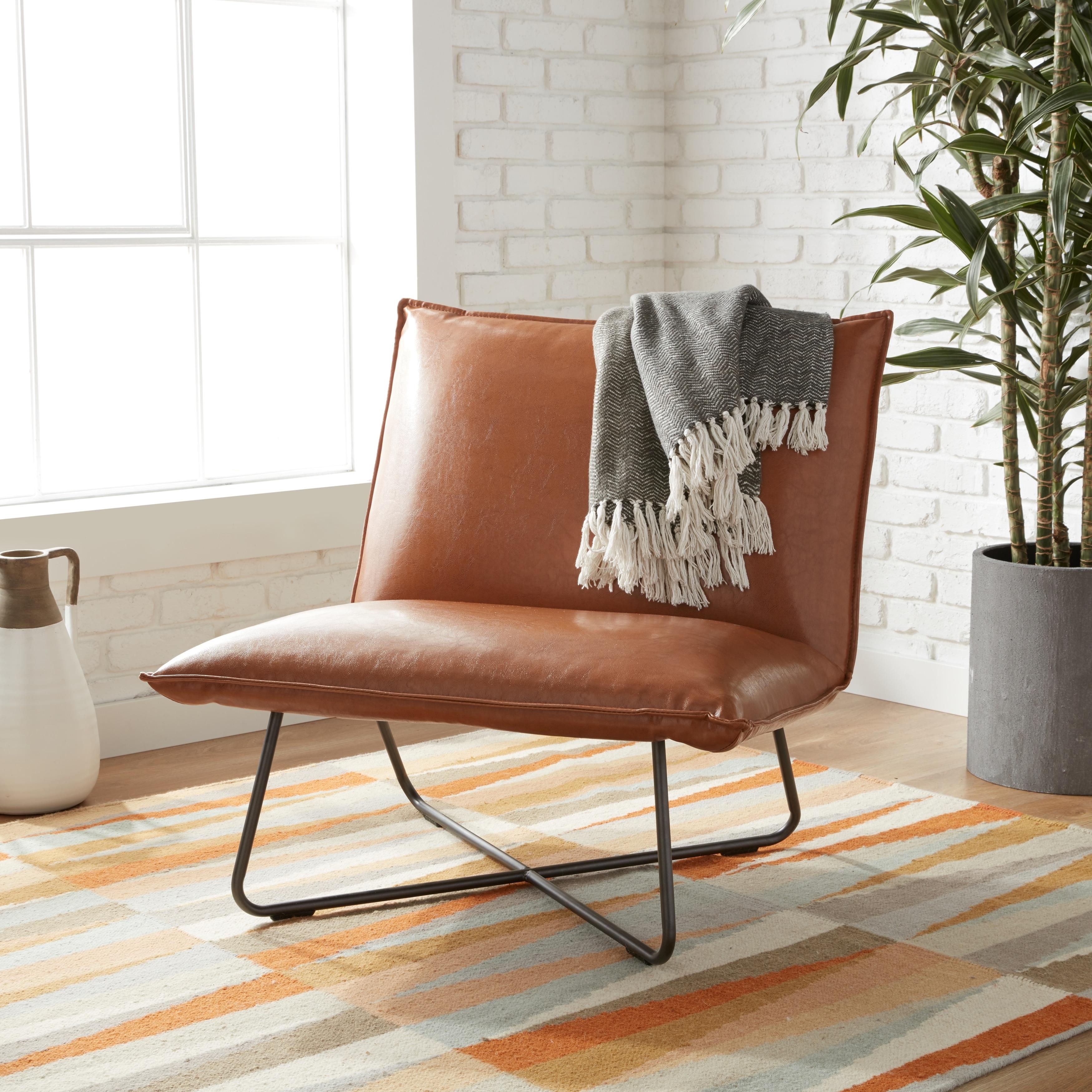 Fantastic Carson Carrington Saddle Brown Pillow Lounge Chair Creativecarmelina Interior Chair Design Creativecarmelinacom